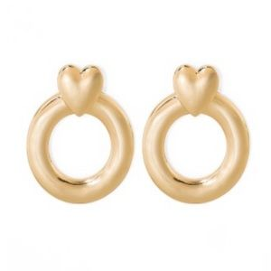 NWT Sugarfix Gold Heart Earrings